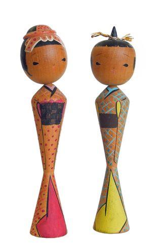 Kokeshi, Japan, Japanese, wood, doll,  wooden, dolls, antique, sosaku 01a