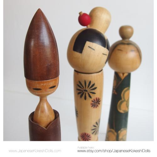 Vintage kokeshi dolls sosaku